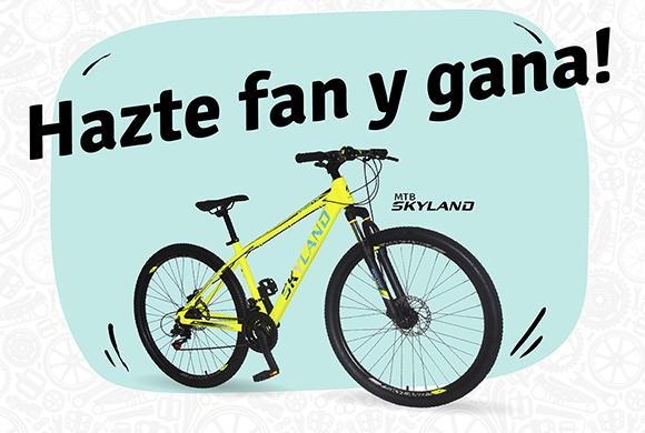 Hazte fan y gana una bicicleta