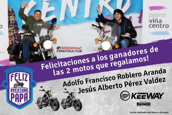 Ganadores motos Keeway